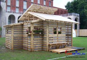 Как построить дом из поддонов своими руками