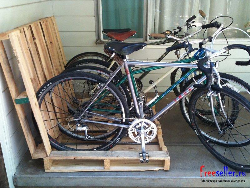 Подставки для велосипеда своими руками
