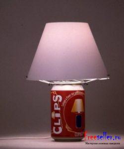 Самодельный светильник ночник из под банки колы
