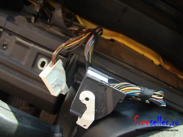 Установка М колец в прибоную панель BMW e 39