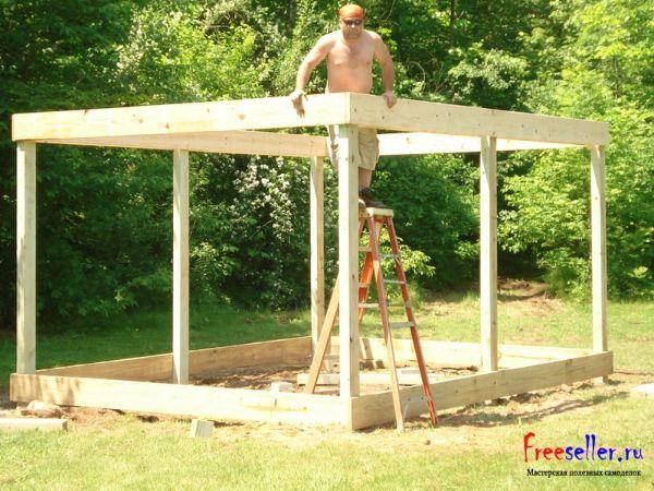 Как построить летний домик своими руками дешево 76