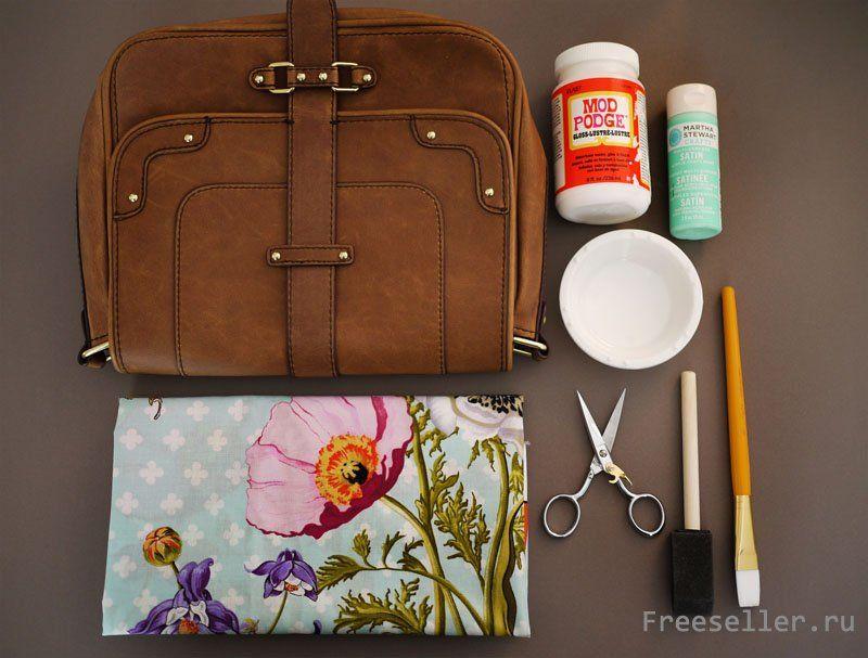 как украсить сумку