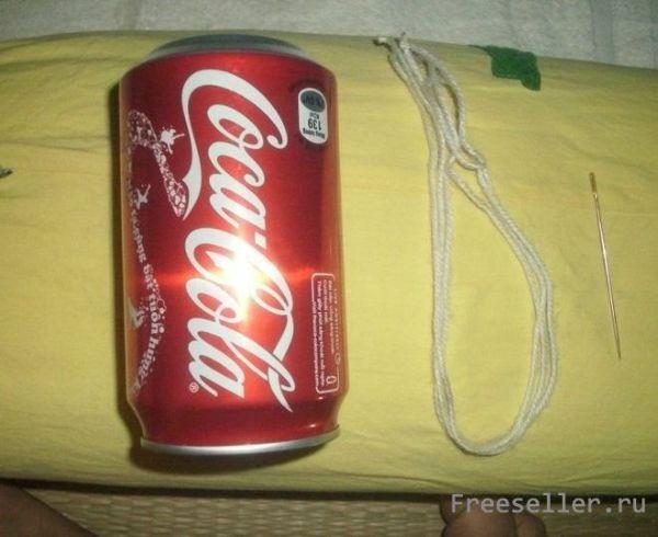 Светильник из банки от кока-колы