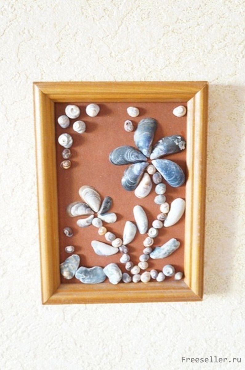 Картины из мелких ракушек своими руками 62