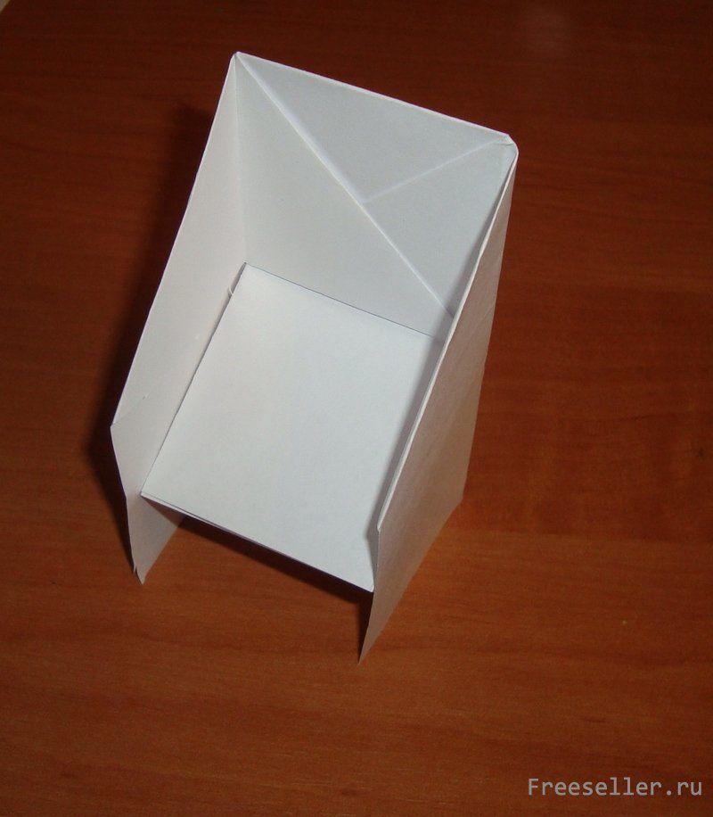 как сделать стульчик из бумаги поделка