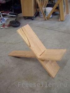 Оригинальный самодельный стул