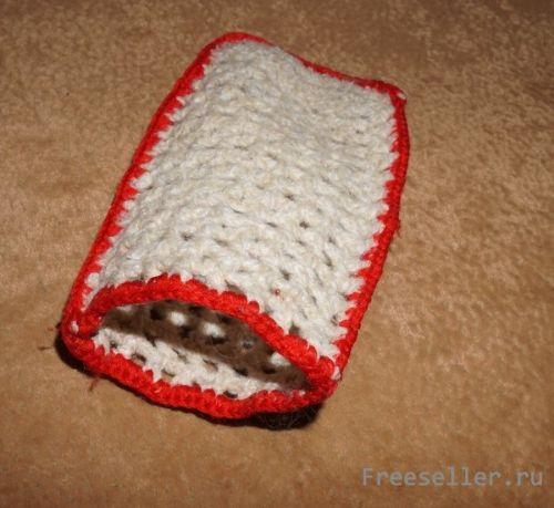 Вязание чехла для мобильного телефона