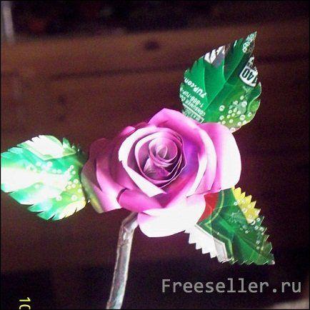 Розы из пивных банок