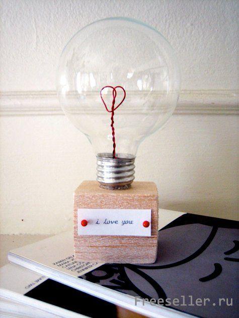 Валентинка из лампочки