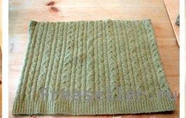 Наволочка для подушки из свитера