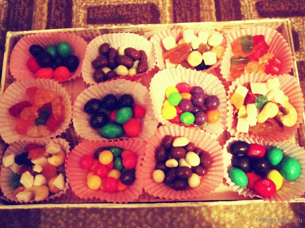 Подарок своими руками коробка со сладостями
