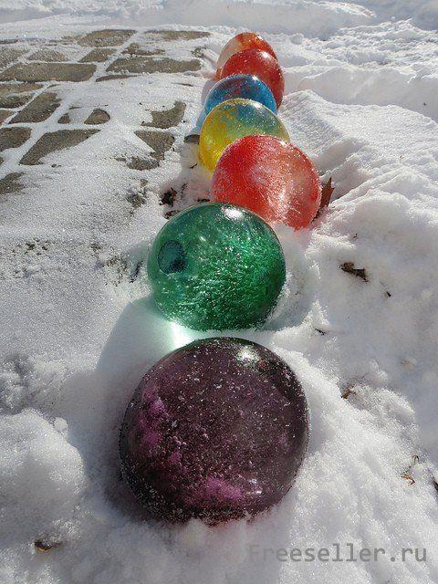 Ледяные шары своими руками