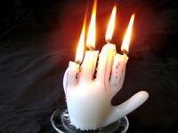 Свечка в виде руки своими руками