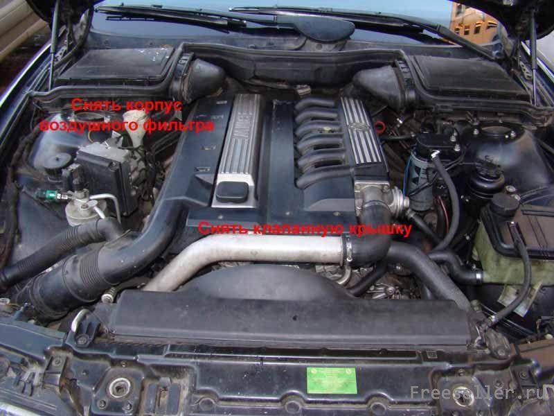 Чистка КВКГ на BMW m51