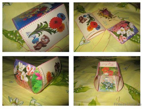Шкатулки и коробочки из открыток 48