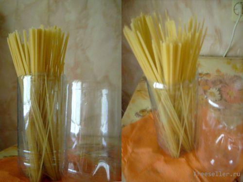 Контейнер для макаронных изделий из пластиковых бутылок