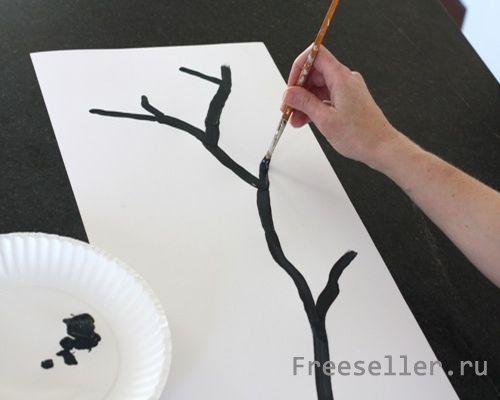 Сакура своими руками рисунок