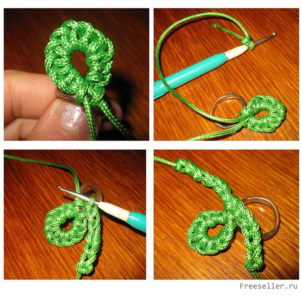 Вязание крючком обвязка колец 80