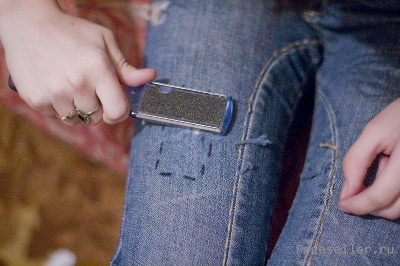 Как сделать драные джинсы