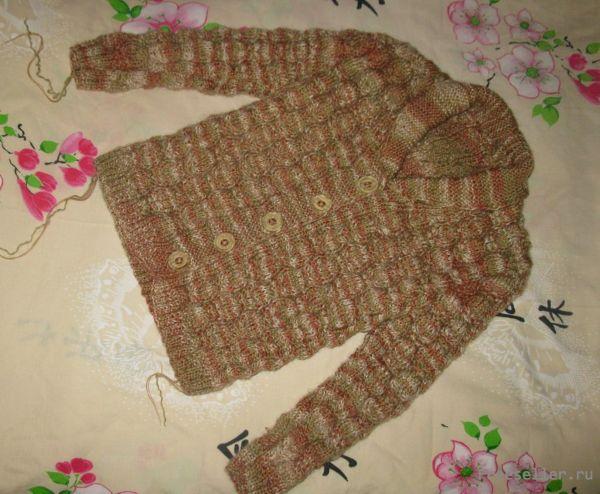 Вязаный жакет для девочки (4-5 лет)