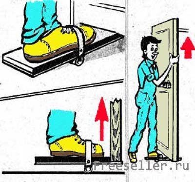 Приспообление для снятия и установки дверей