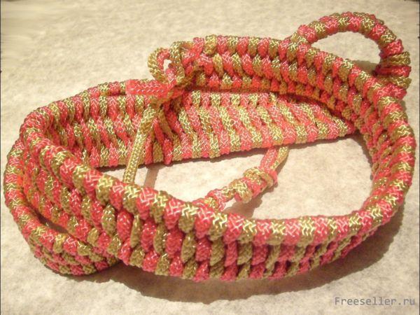 Плетём нарядный поясок