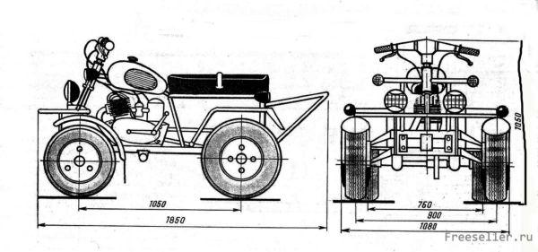 Как сделать снегоход из мотоцикла урал своими руками в домашних условиях