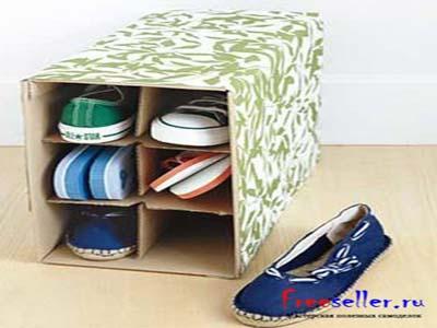Подставка для обуви своими руками из коробок 31