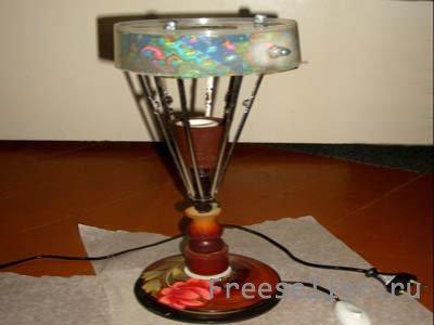 Саморобний світильник з усякої всячини - найцікавіші саморобки