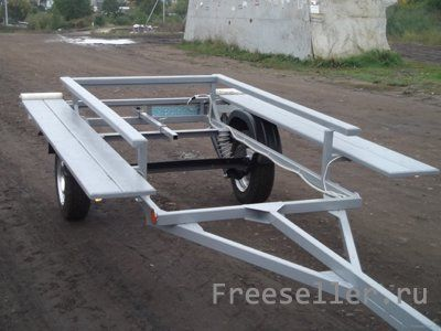 Самодельный прицеп для перевозки катамарана