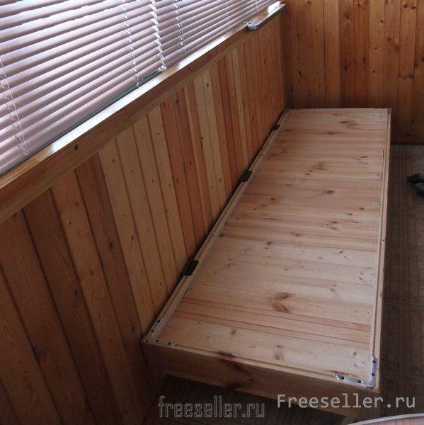 Своими руками кровать на балкон 181