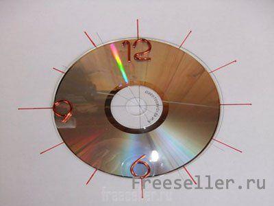 Часы на компакт диске