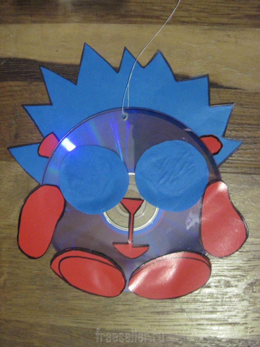 Смешарики из дисков своими руками на елку 48