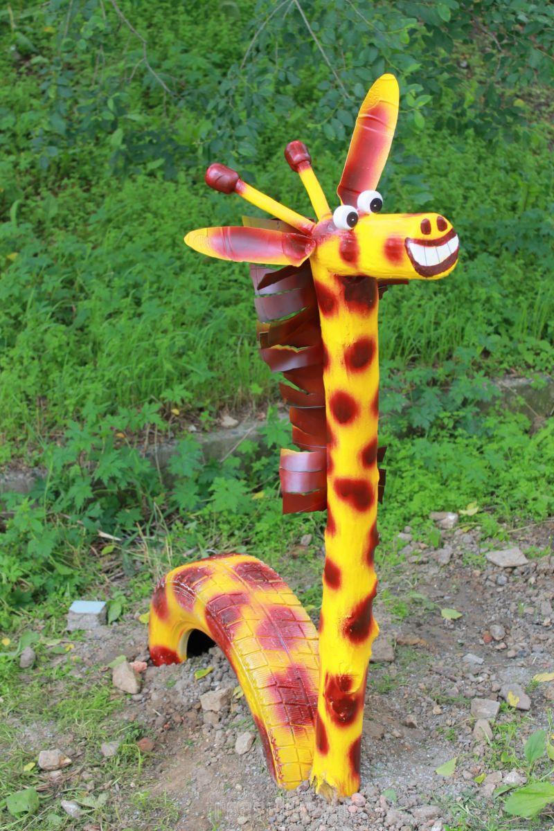 Жираф из бутылок своими руками