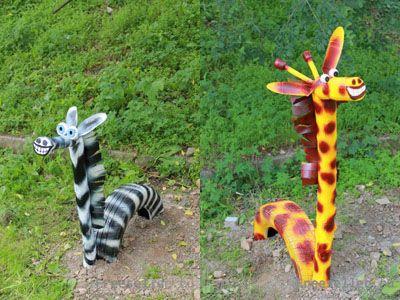 Жираф своими руками для сада 27