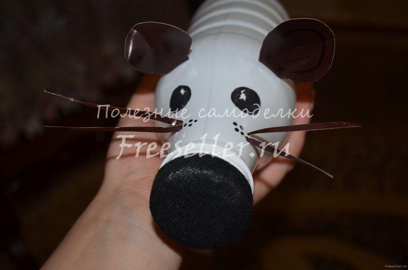 Как сделать мышь своими руками из бутылки