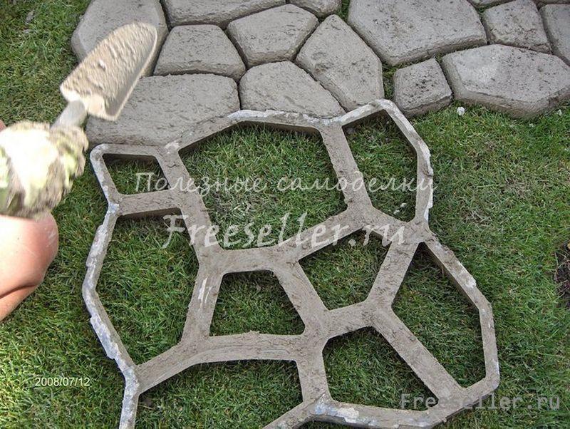 Дачная дорожка из тротуарной плитки своими руками