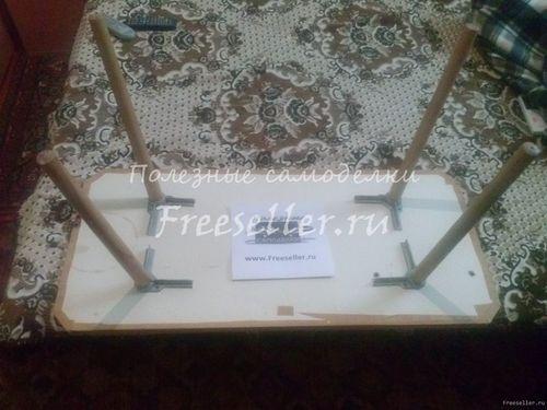Журнальный столик из старого стула