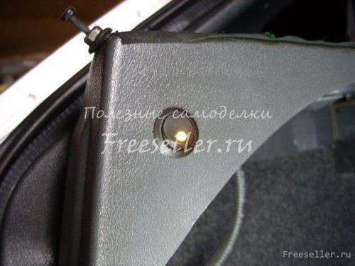 Своими руками освещение в багажнике фото 41