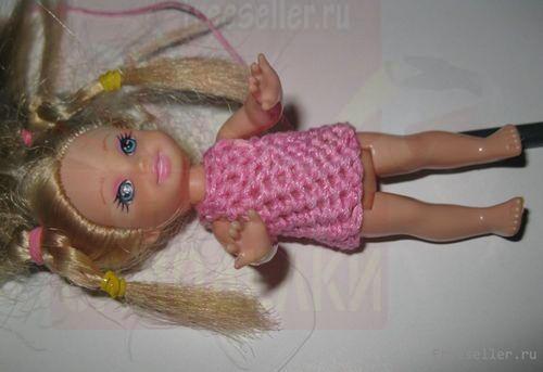 Платья для кукол (вязание крючком)