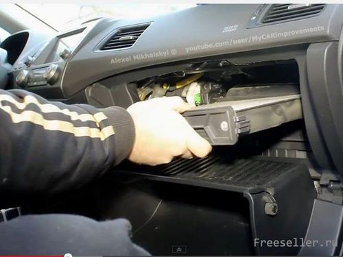 ЗАМЕНА ФИЛЬТРА САЛОНА - Honda Civic 4D