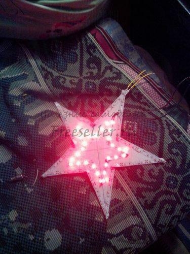 Новогодняя светящиеся звезда из светодиодной ленты