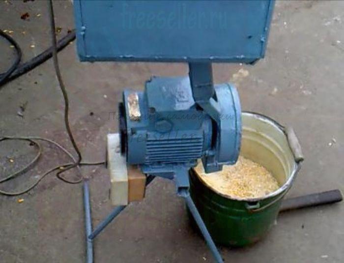 Из чего сделать дробилку для зерна своими