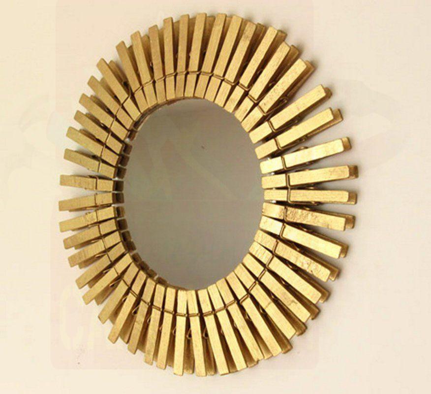 Зеркало с прищепками мастер класс