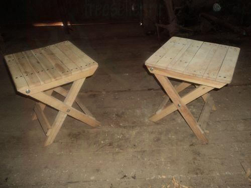 Самодельные стульчики для пикника