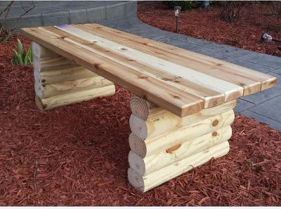 Простая садовая скамейка своими руками
