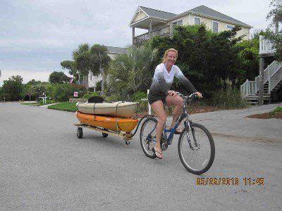 Прицеп на велосипед для байдарок