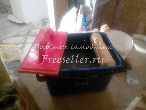 Самодельный комплект для затирки плиточных швов