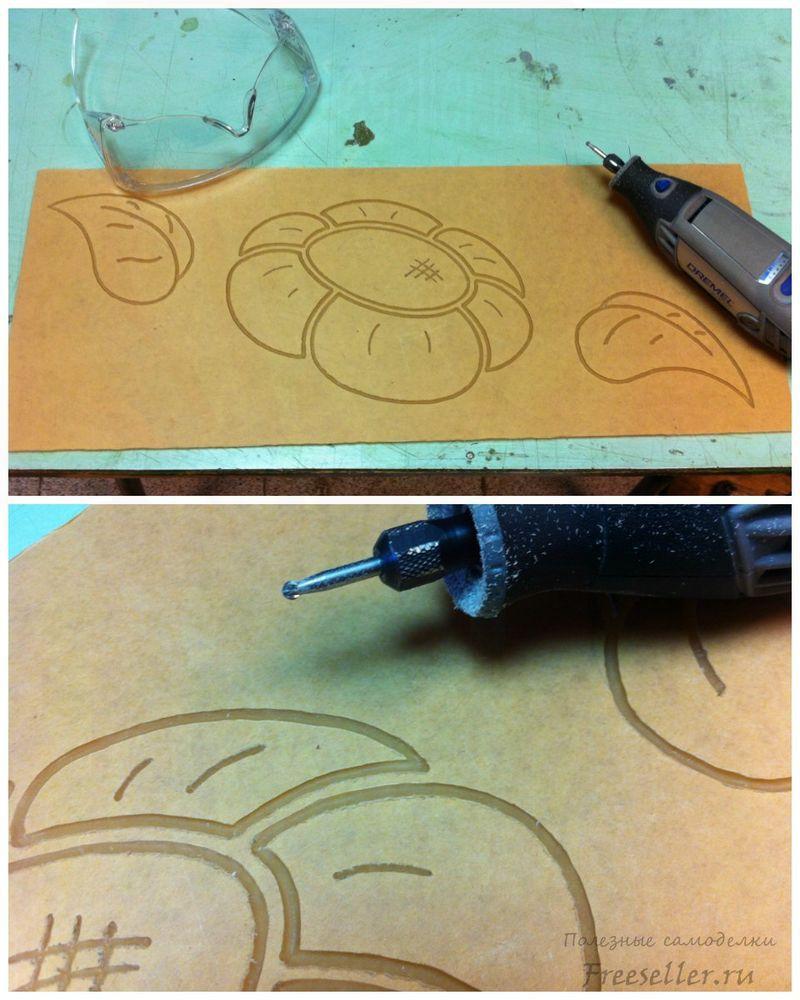 Вырезаем рисунок в оргстекле