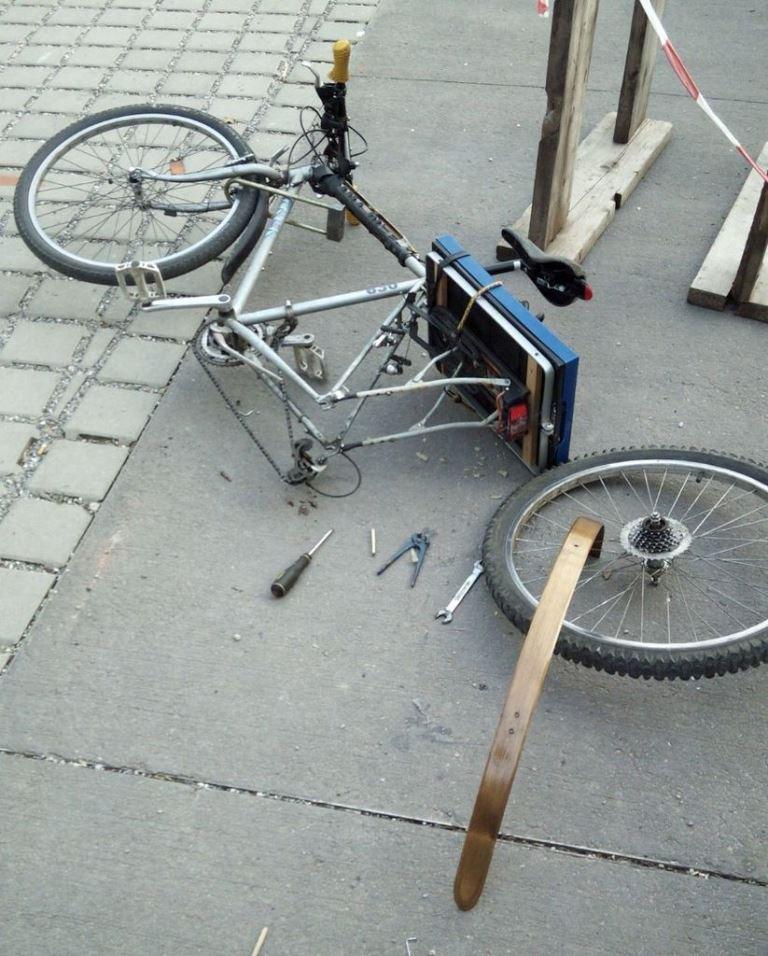 Как прикрепить крылья к велосипеду